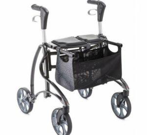 Leichtgewichtrollator, deambulatore leggero, invacare, seduta imbottita, gepolsterte Sitzfläche