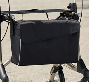 Tasche mit Magnetverschluss, Tasche für Rollator, schwarz