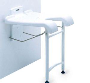 Duschklappsitz, sedia per doccia a parete, Aquatec, Sansibar, Invacare