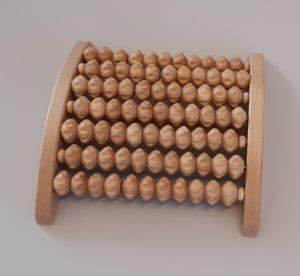 Fußmassageroller, massaggiatore piedi, rullo in legno